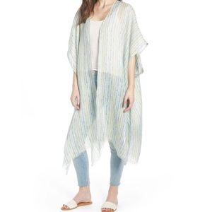 NWT-TREASURE & BOND-Oversized Linen Striped Ruana.
